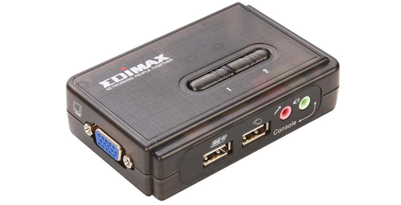 Przełącznik KVM Edimax EK-UAK2 intuicyjna obsługa złącza