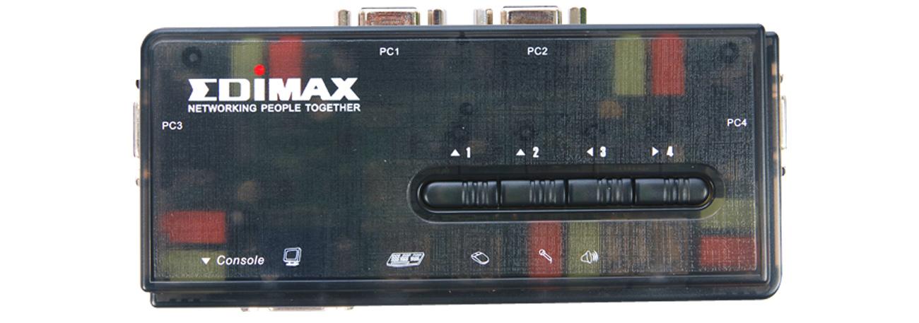 Przełącznik KVM Edimax EK-UAK4 prosta obsługa