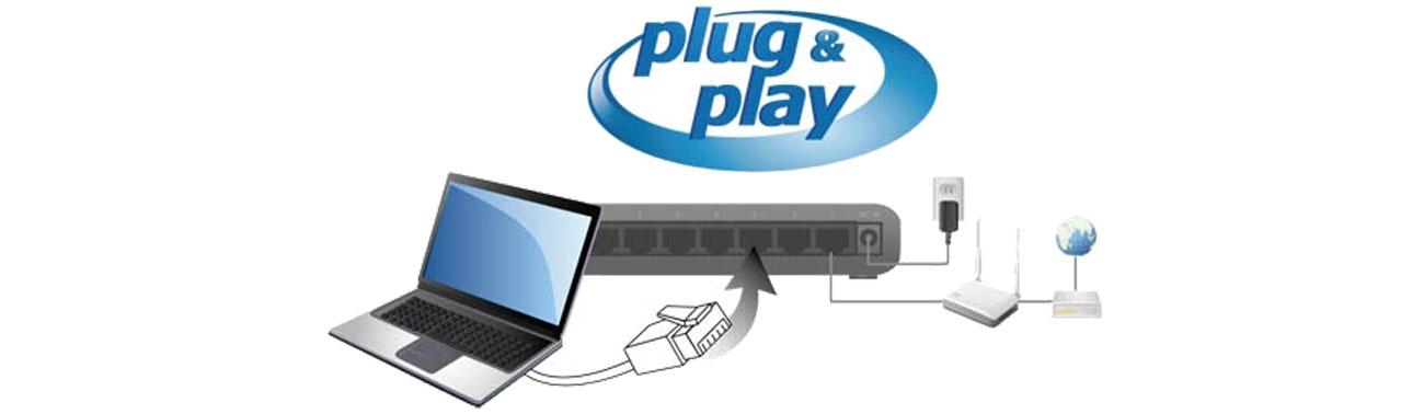 Switch Edimax 8p ES-5800G V3 Plug&Play