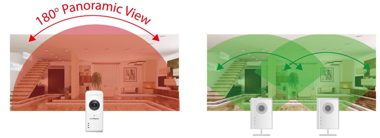 Kamera Edimax IC-5150W duży kąt widzenia