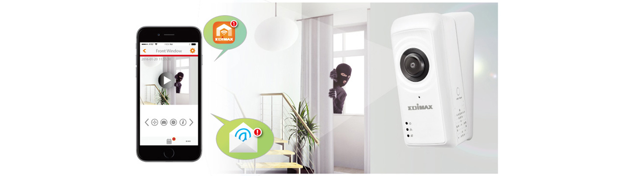 Kamera Edimax IC-5150W powiadomienia