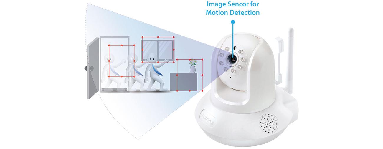 Kamera IP Edimax IC-7113W detekcja ruchu
