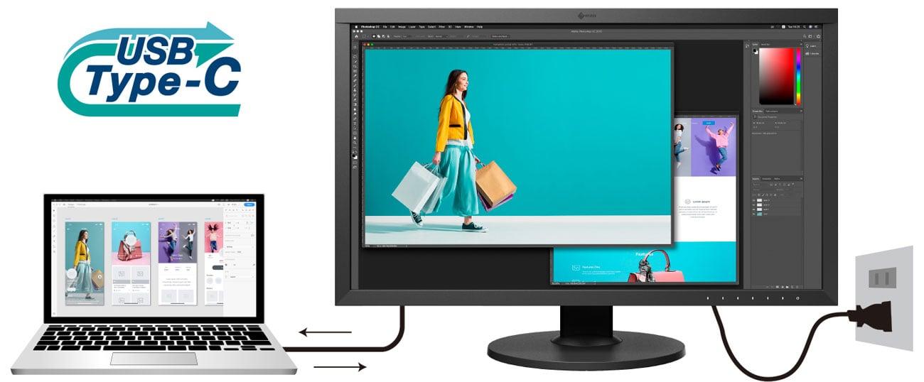 Monitor dla grafików i fotografów Eizo ColorEdge CS2740-BK + ColorNavigator