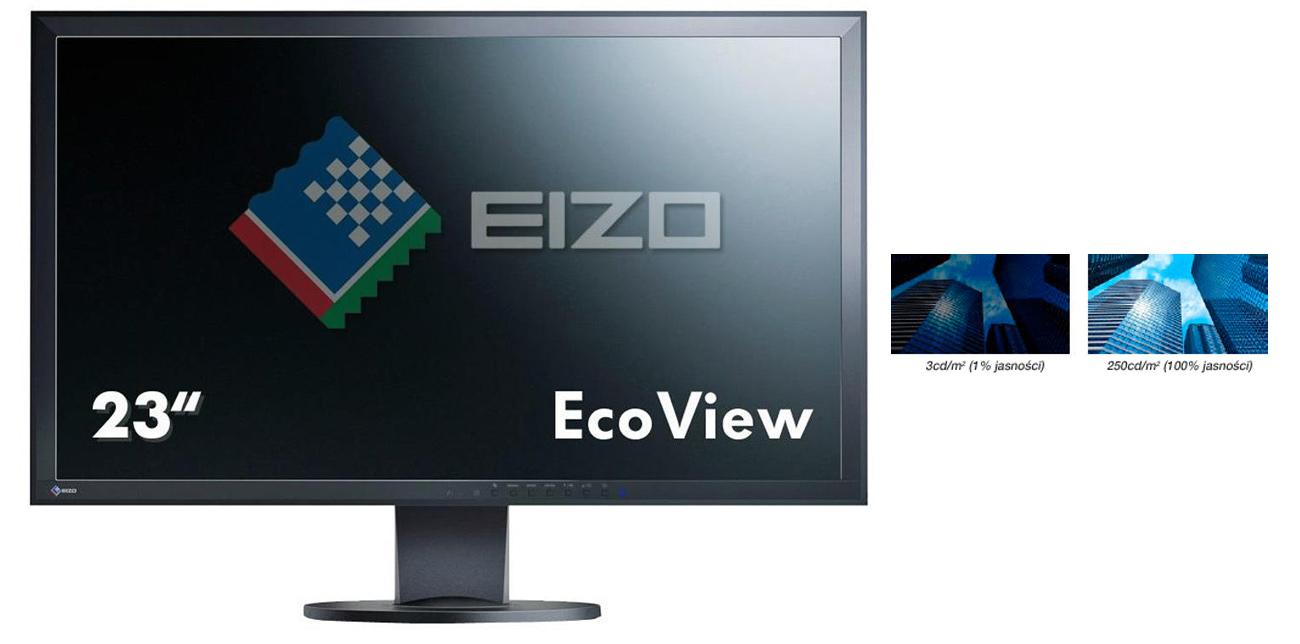 Eizo EV2316WFS3-BK niska jasność ekranu