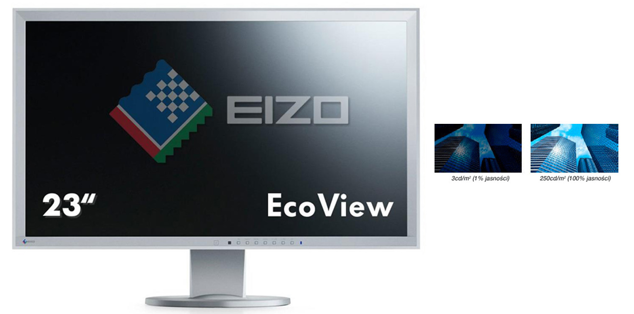 Eizo EV2316WFS3-GY niska jasność ekranu