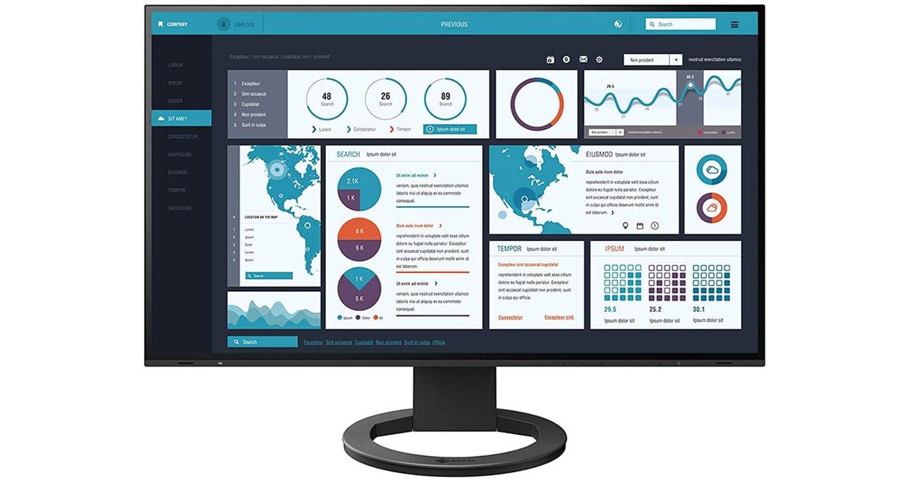 Monitor do zastosowań biznesowych Eizo FlexScan EV2495-BK