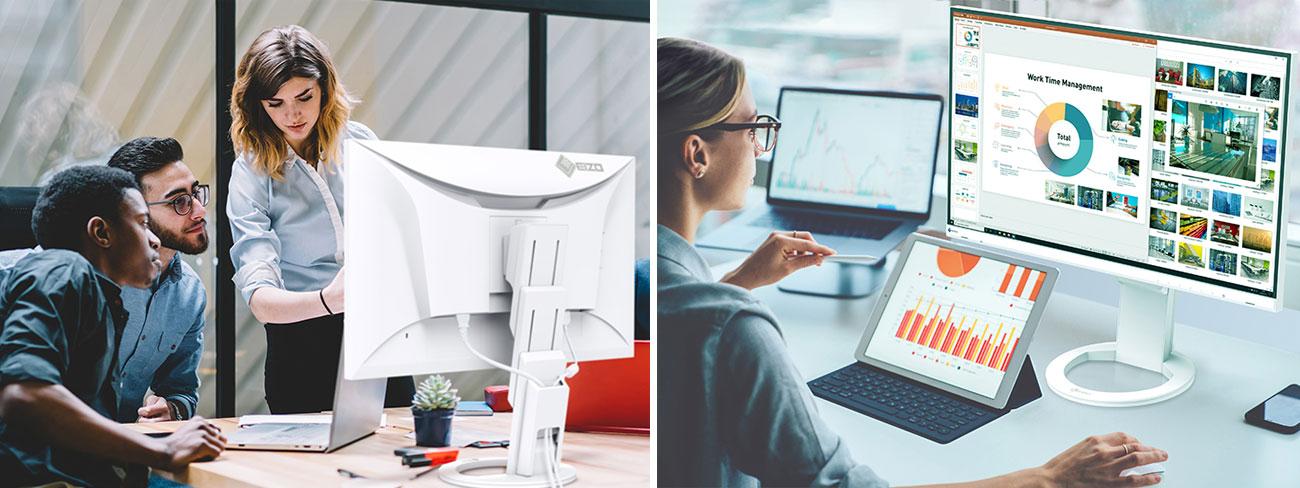 Wszechstronny monitor do domu i biura Eizo FlexScan EV2760-WT