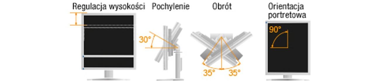Eizo S2133-BK Ergonomiczna stopka