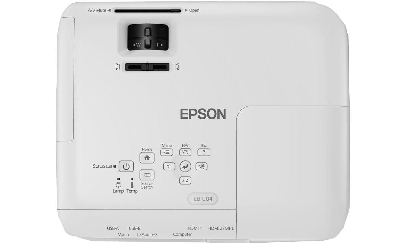 Epson EB-U04 widok od góry przyciski