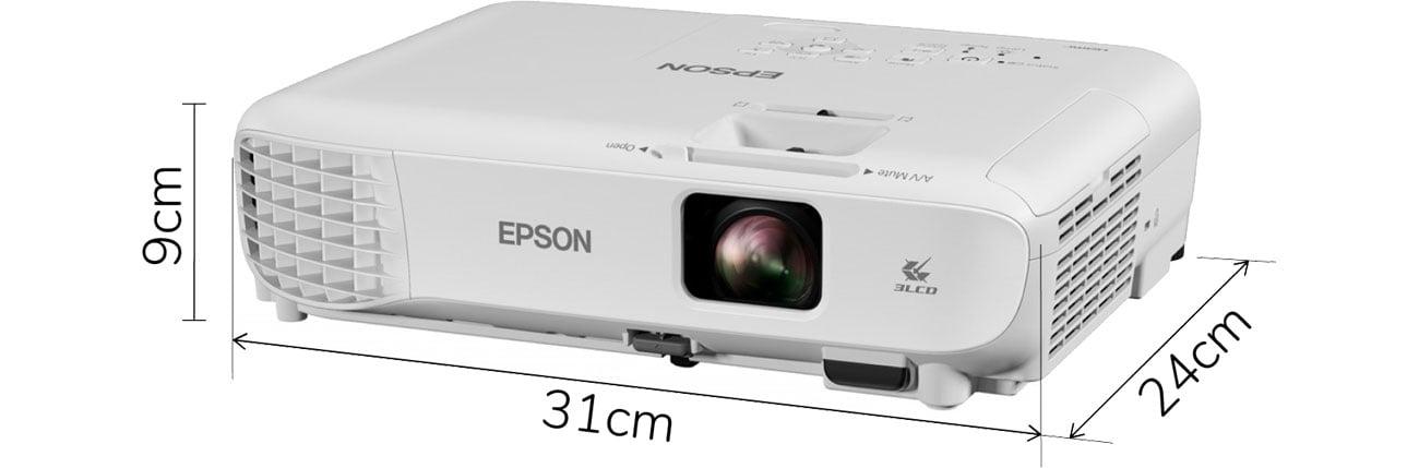 Epson EB-W06 - Wymiary
