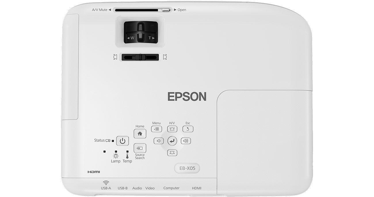 Projektor Epson EB-X05 - Widok z góry