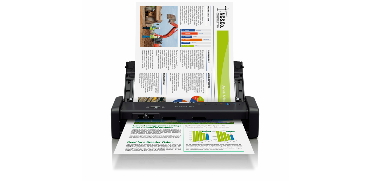 Epson WorkForce DS-360W Wbudowany Akumulator