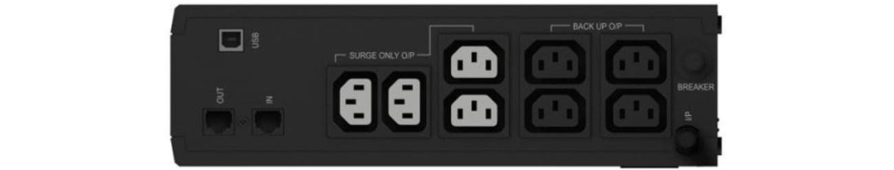 Zasilacz awaryjny (UPS) Ever ECO 1000 LCD (1000VA/600W) 8xIEC (4+4) USB T/ELCDTO-001K00/00