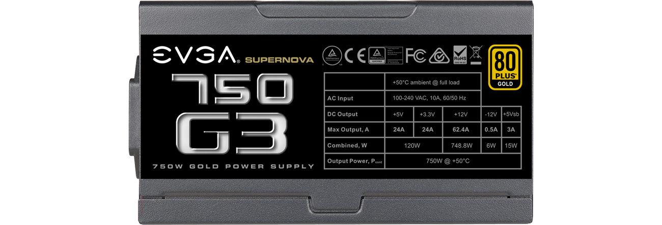 Zasilacz do komputera EVGA SuperNOVA G3 750W 80 Plus Gold