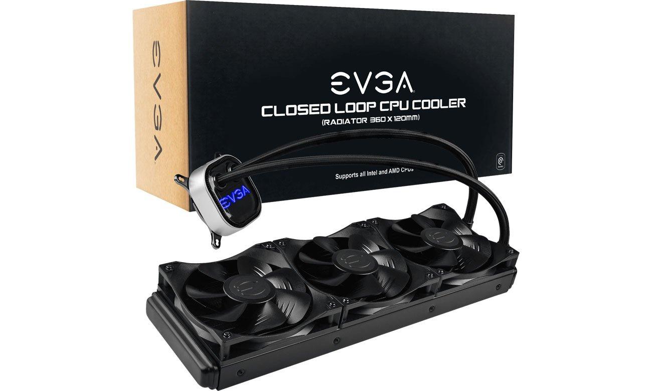Chłodzenie procesora EVGA CLC 360mm 3x120mm 400-HY-CL36-V1