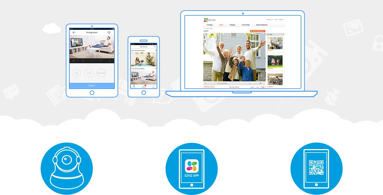 EZVIZ C6B Aplikacja mobilna