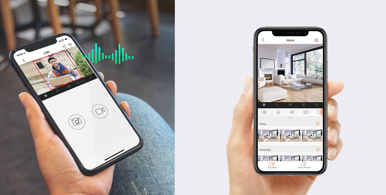 EZVIZ C3N - Dźwięk, nagrania, aplikacja