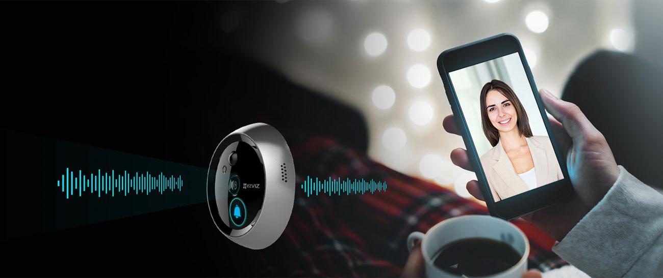 EZVIZ DP1 Powiadomienia, dwukierunkowe audio