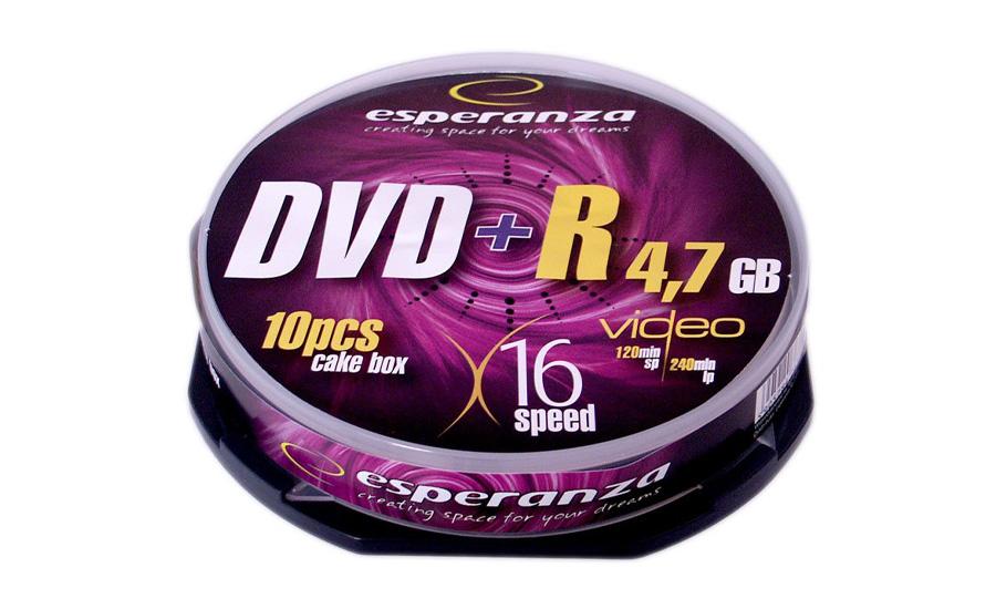 Płyta DVD+R Esperanza 4.7GB 16x CAKE 10szt. E5905784763323 / 1117