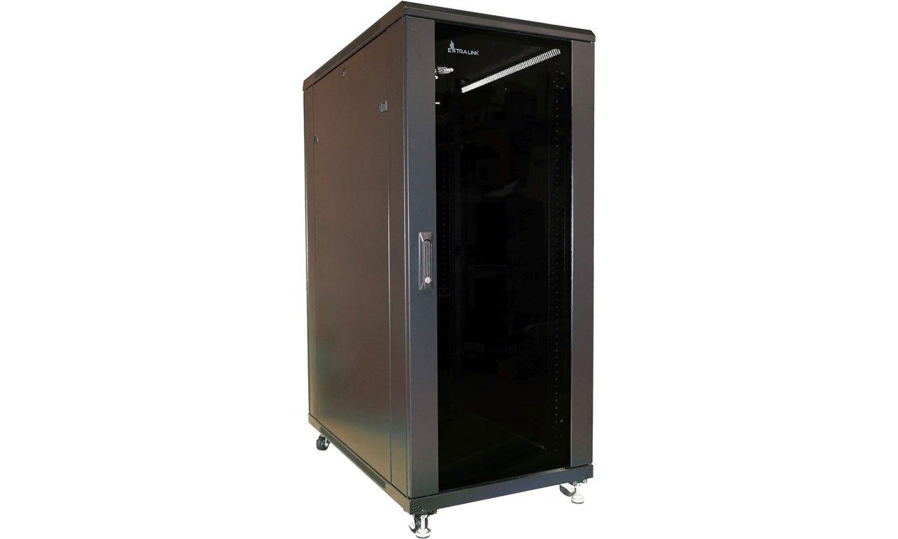 Szafa RACK ExtraLink Stojąca 19'' 27U 600x800mm (czarna) EX.11366