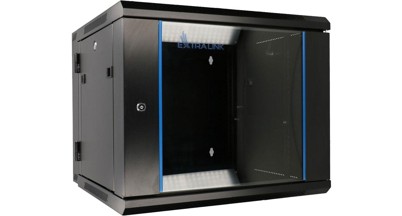 Szafa RACK ExtraLink Wisząca 19'' 9U 600x600mm dwusekcyjna (czarna) EX.12943