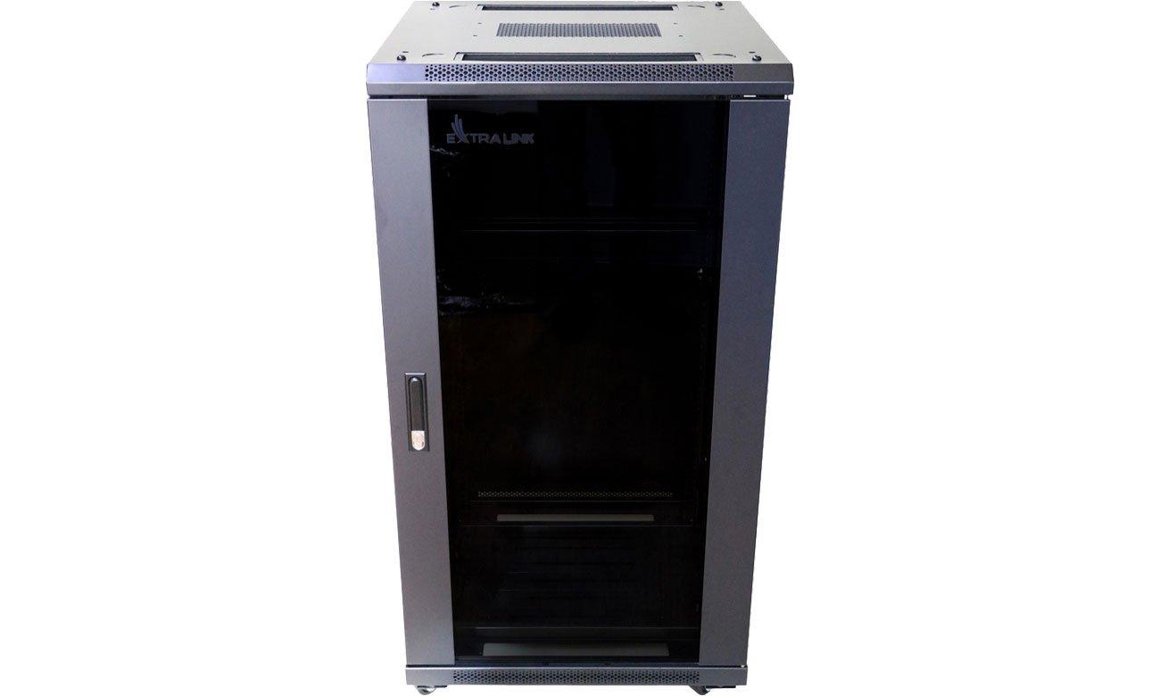 Szafa RACK ExtraLink Stojąca 19'' 22U 600x600mm (czarna) EX.14381
