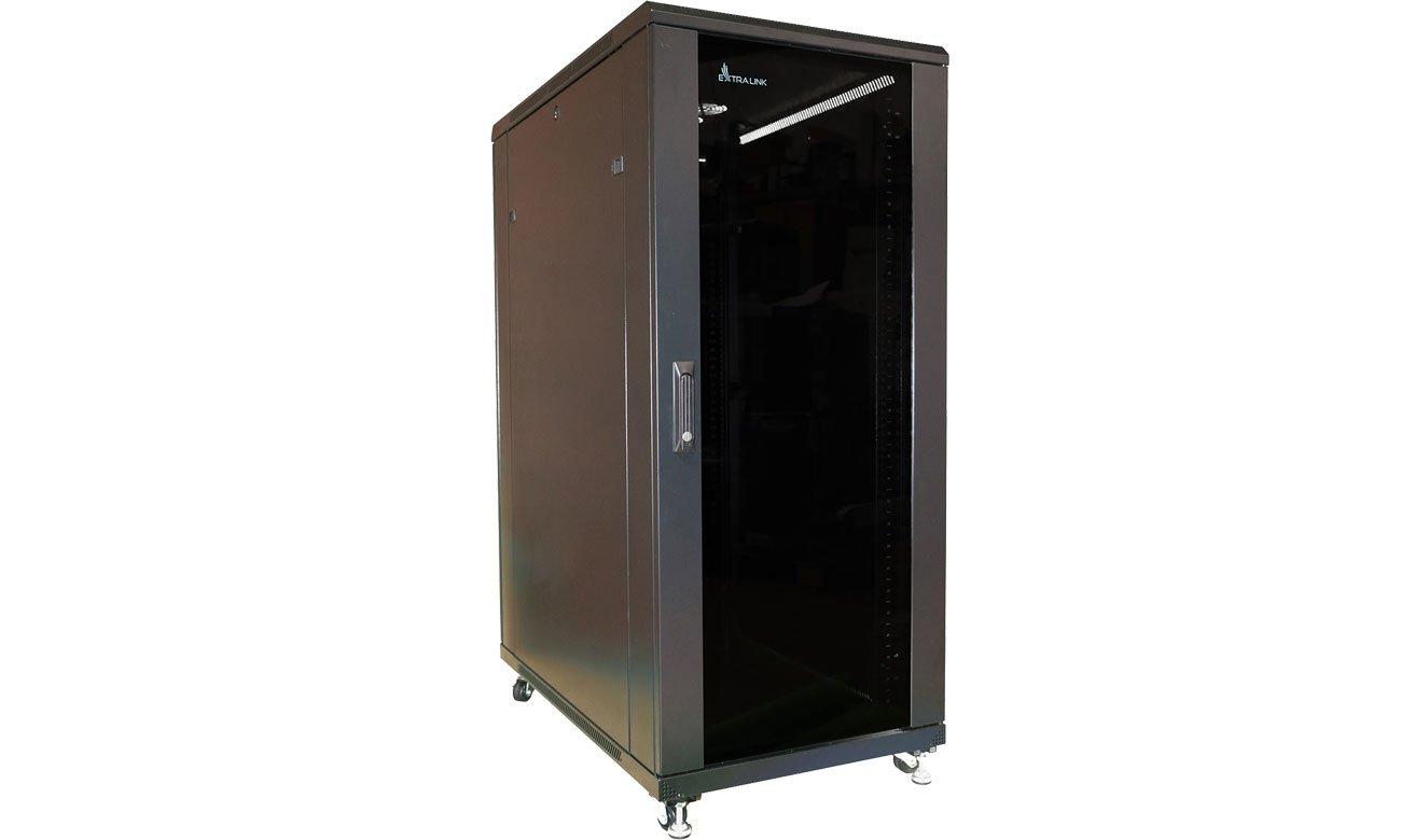 Szafa RACK ExtraLink Stojąca 19'' 27U 800x800mm (czarna) EX.14404