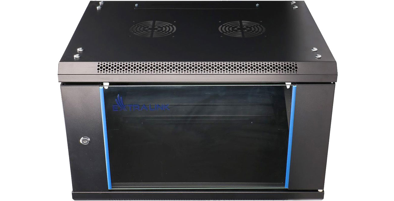 Szafa RACK ExtraLink Wisząca 19'' 6U 600x450mm czarna EX.7225