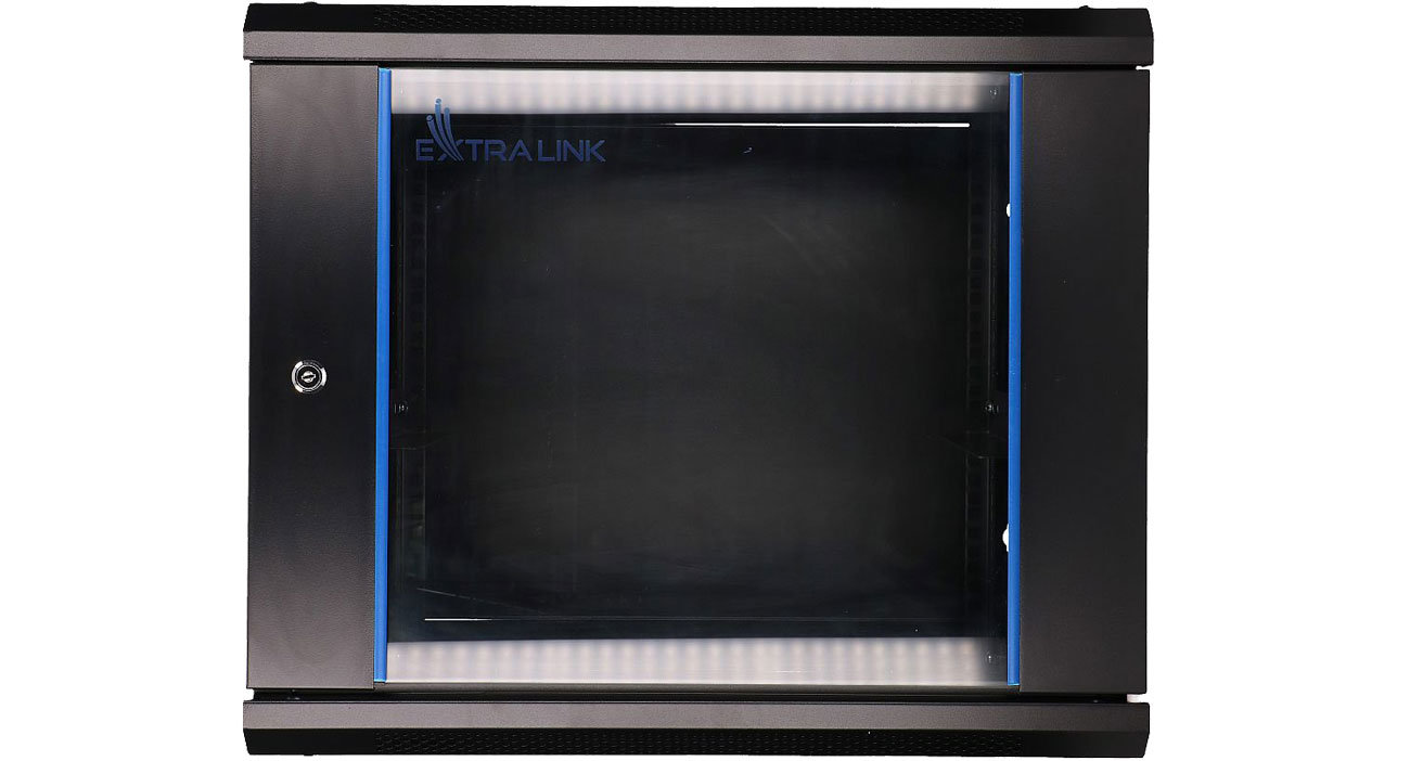 Szafa RACK Wisząca 19'' 9U 600x450mm (czarna) EX.7249