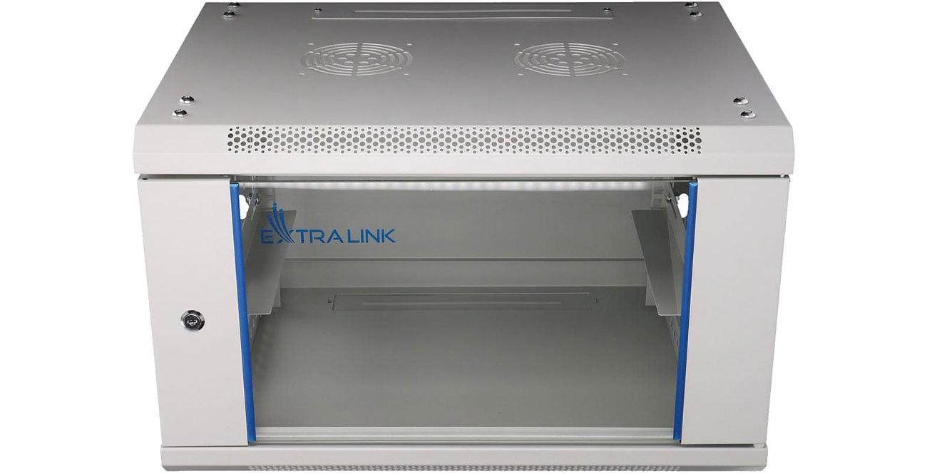 Szafa RACK ExtraLink Wisząca 19'' 6U 600x450mm szara EX.8550
