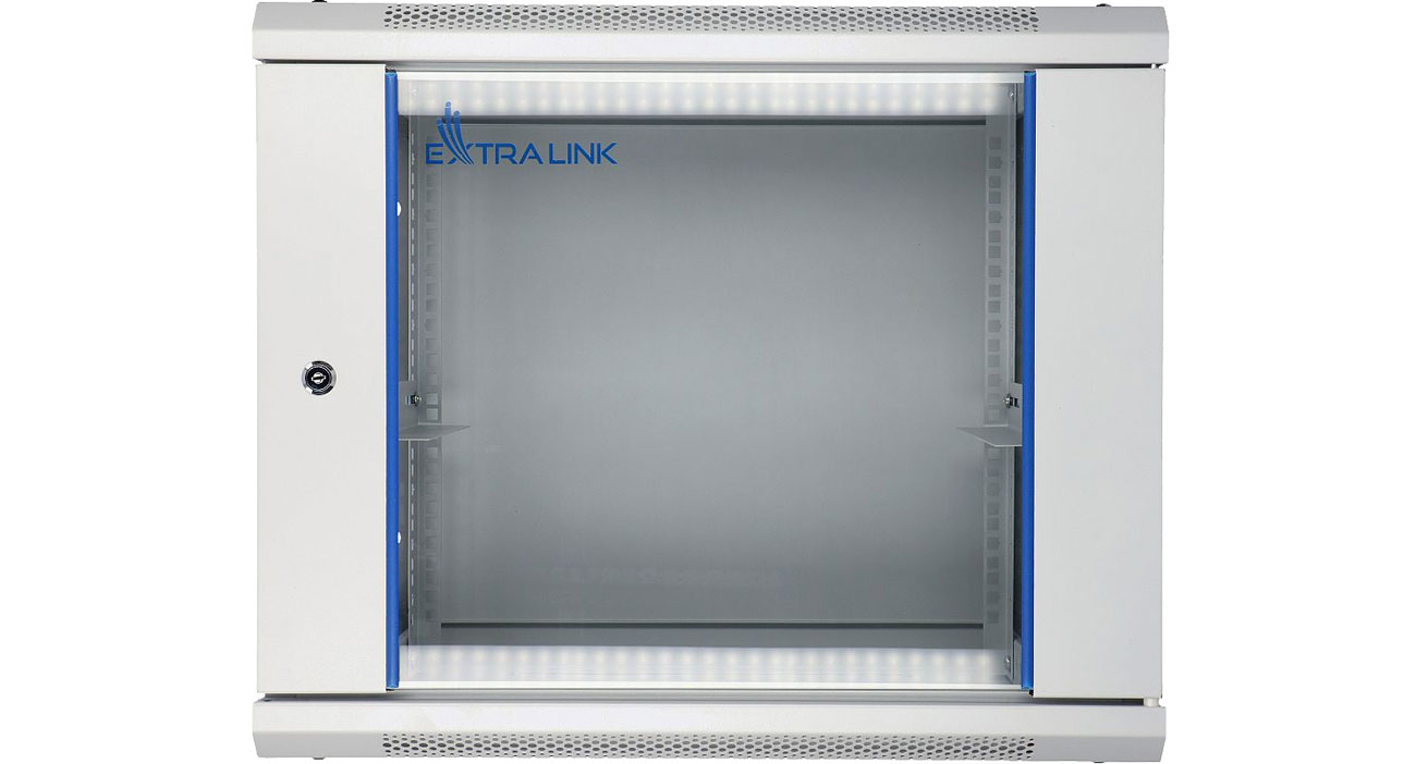 Szafa RACK Wisząca 19'' 9U 600x450mm (szara) EX.8574