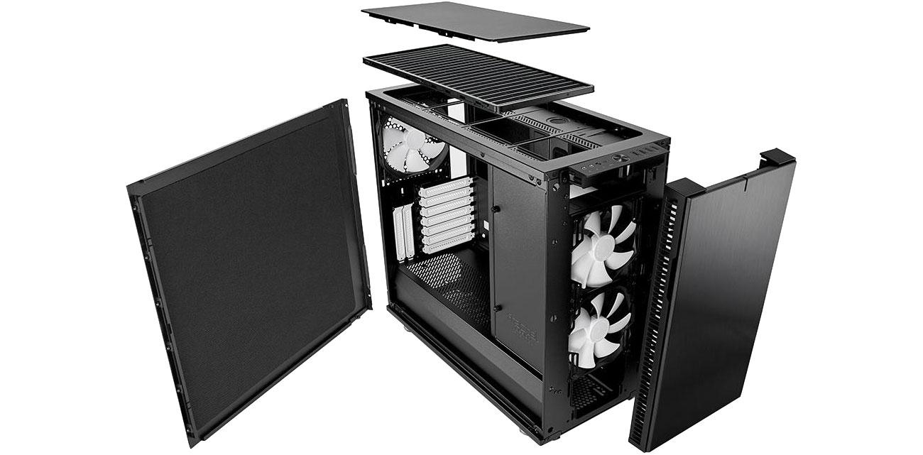 Fractal Design Define R6C Black Przód i tył
