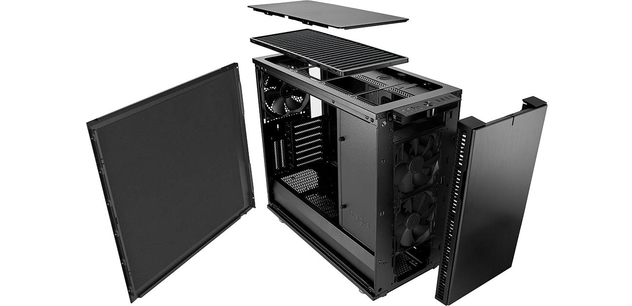 Fractal Design Define R6C Blackout Przód i tył