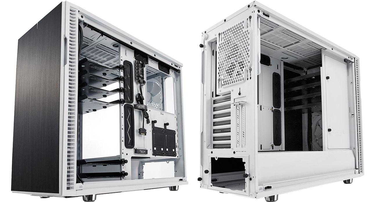 Fractal Design Define R6C White Tempered Glass Wnętrze obudowy