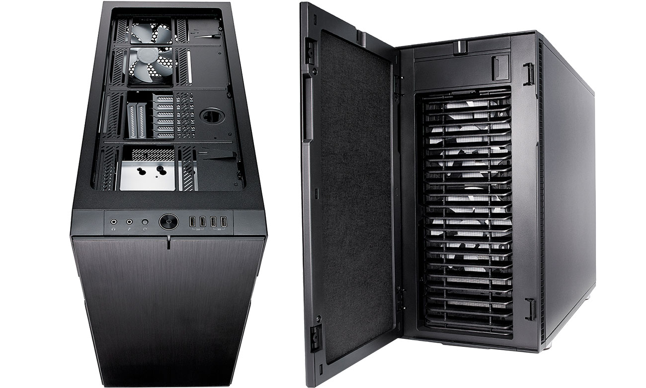 Fractal Design Define R6 TG Trzy wbudowane wentylatory
