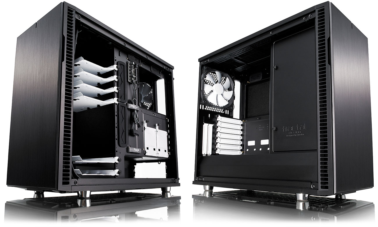 Fractal Design Define R6 Optymalne rozmieszczenie podzespołów