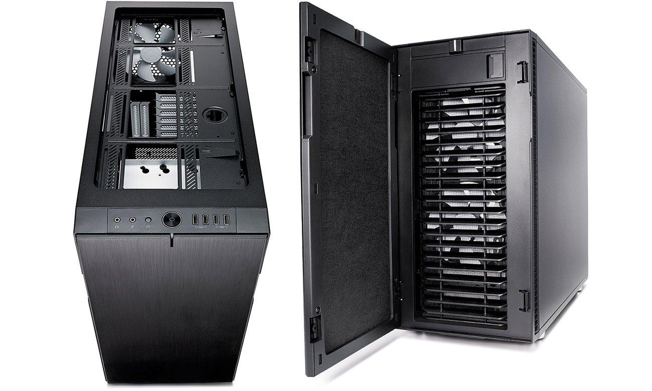 Fractal Design Define R6 Trzy wbudowane wentylatory