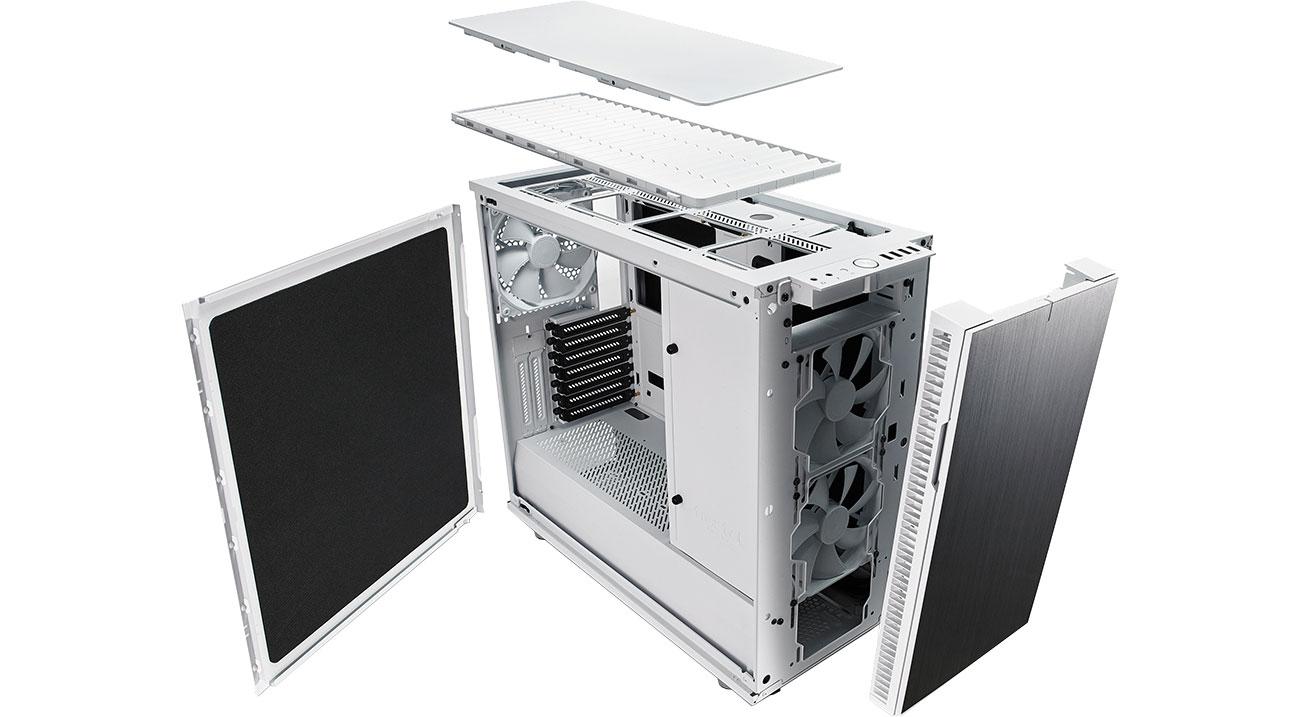 Fractal Design Define R6 Biała - Chłodzenie