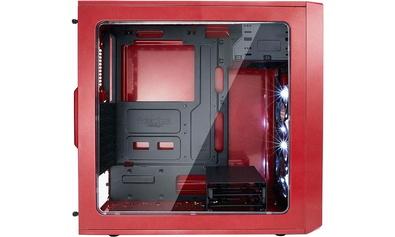 Fractal Design Focus G FD-CA-FOCUS-RD-W Panel z oknem