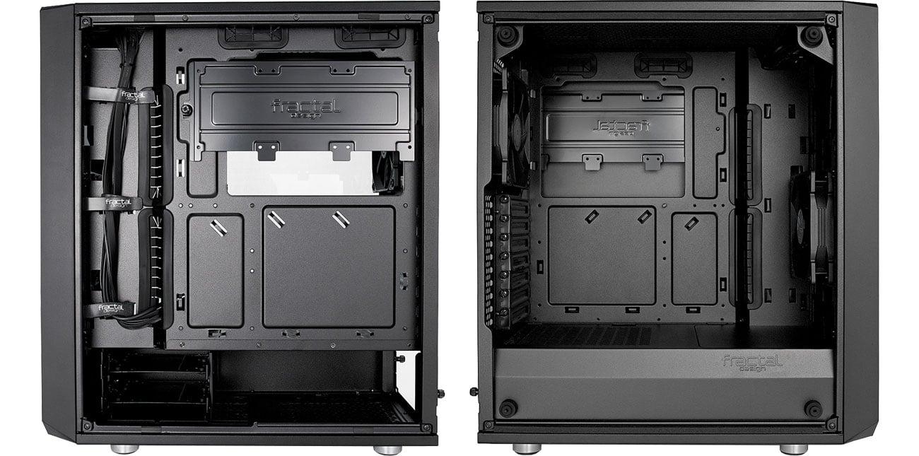 Fractal Design Meshify C Blackout TG Wnętrze
