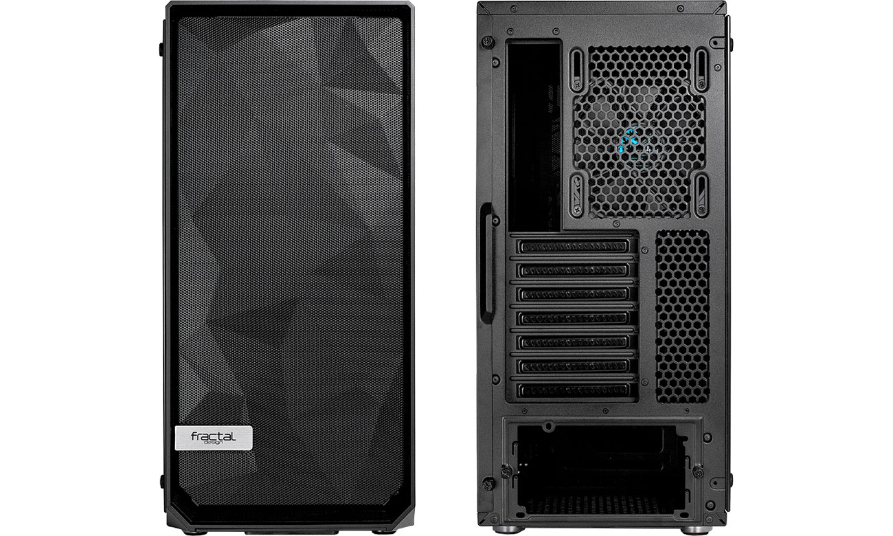 Fractal Design Meshify C Blackout TG Chłodzenie