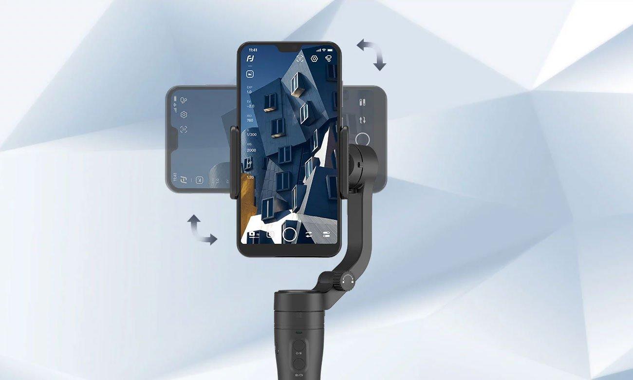 Feiyu-Tech VLOG pocket - Działanie w pionie i poziomie