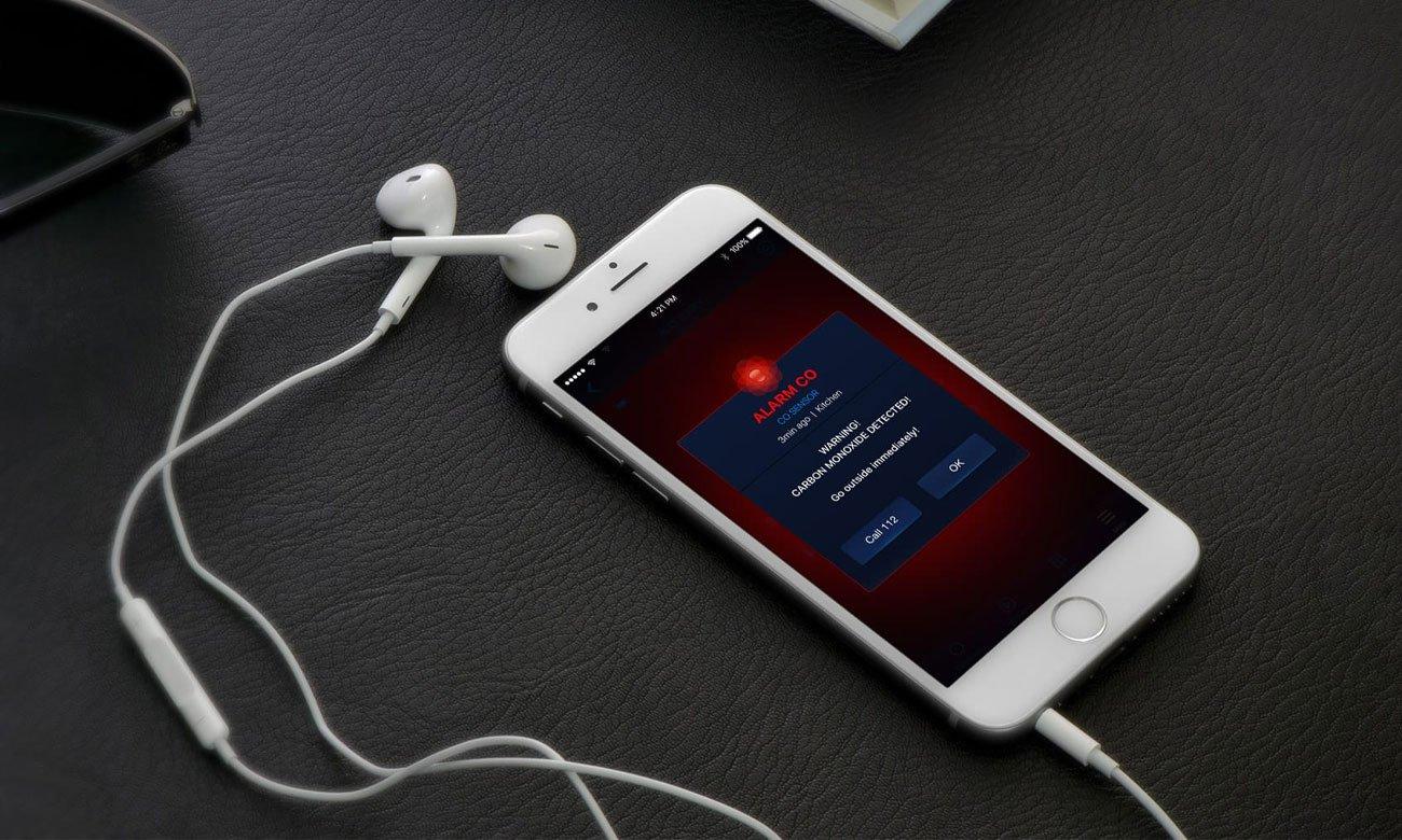 Fibaro CO Sensor Alarmy na telefon komórkowy