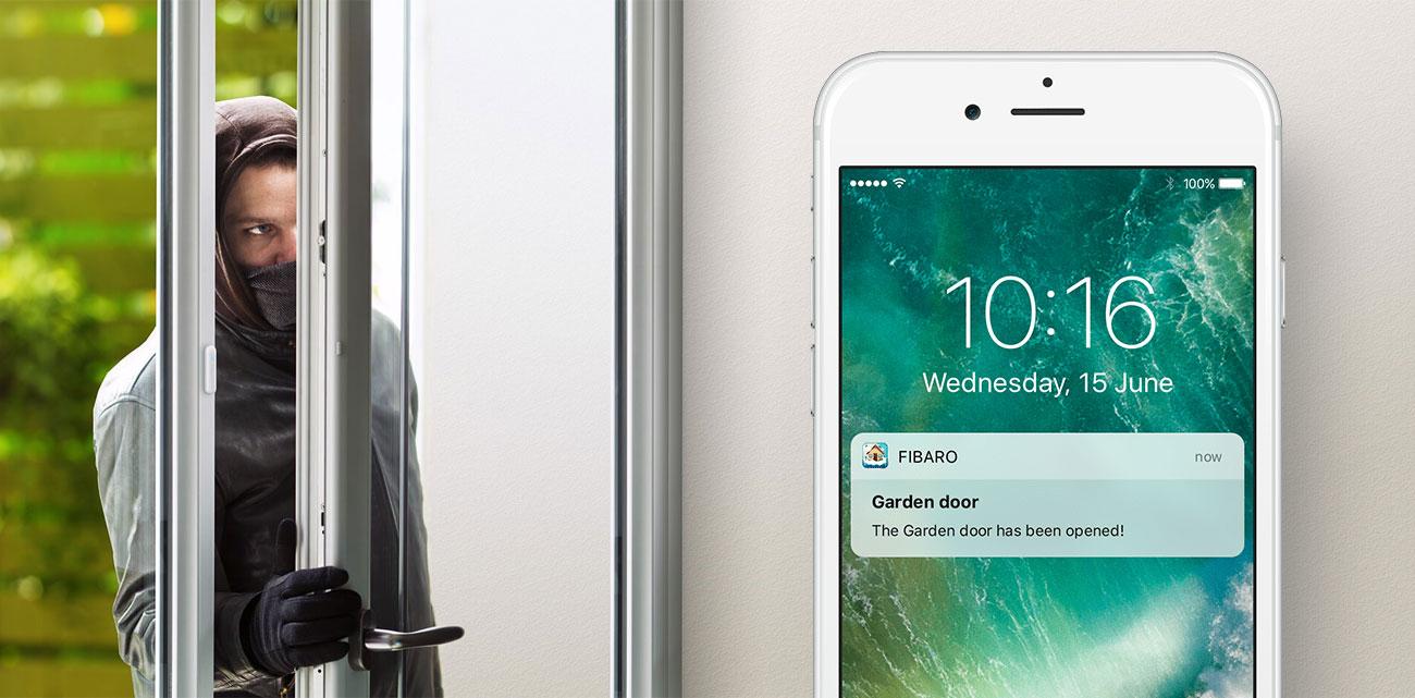 Fibaro Door / Window Sensor Powiadomienia na telefon