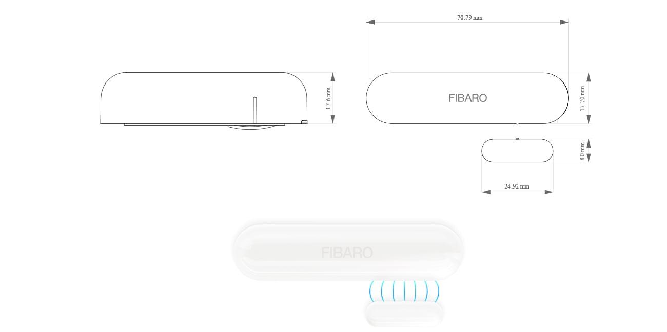 Fibaro Door / Window Sensor Kompaktowe rozmiary