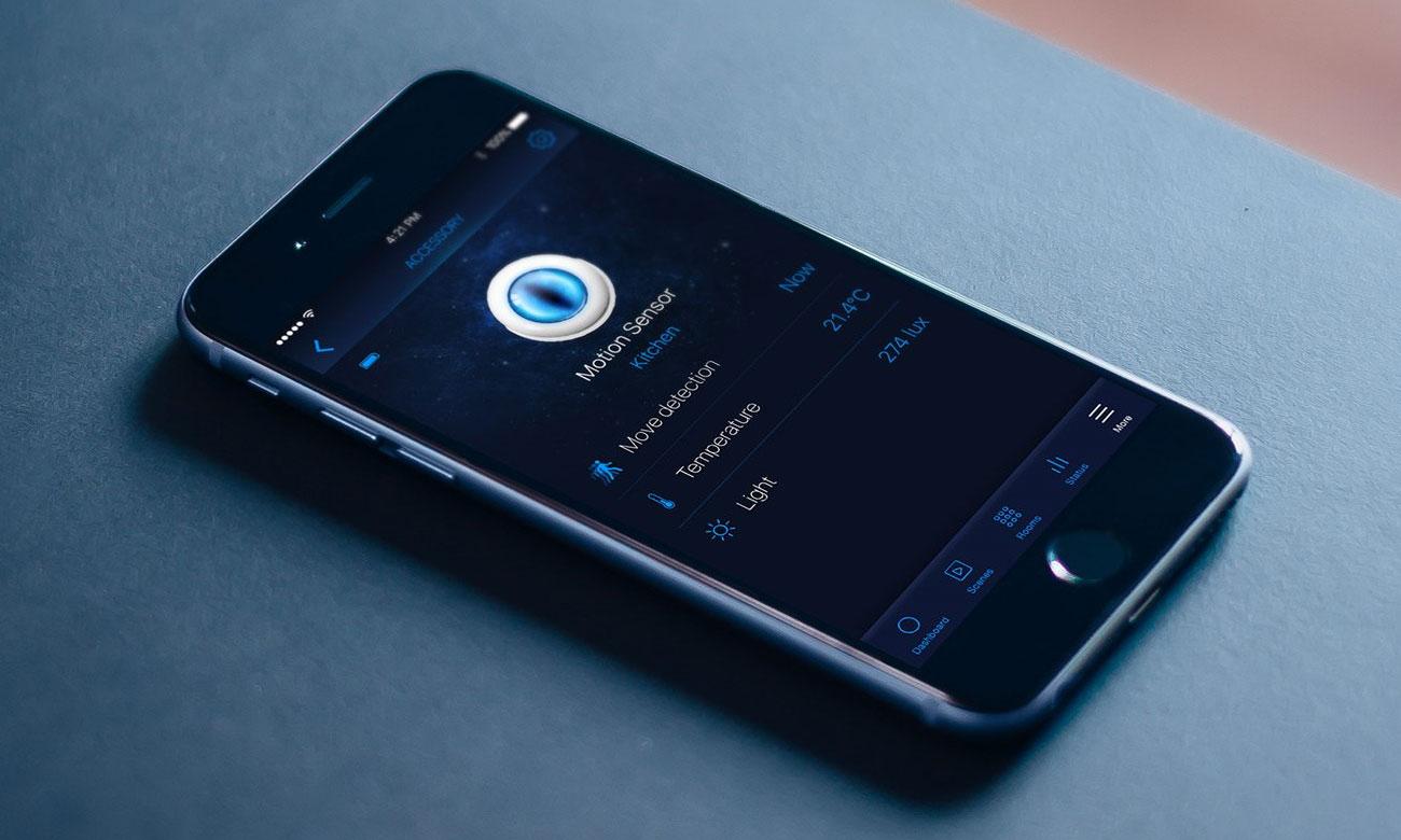 Fibaro Motion Sensor HomeKit Aplikacja mobilna