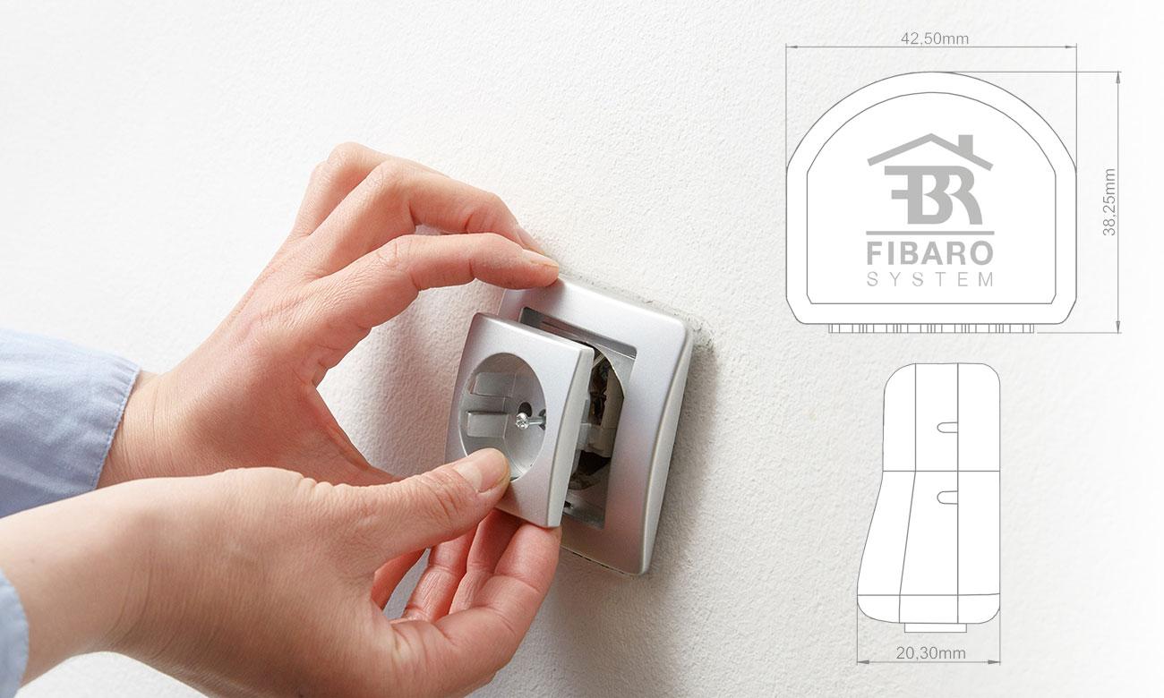 Fibaro Single Switch Kompaktowy rozmiar