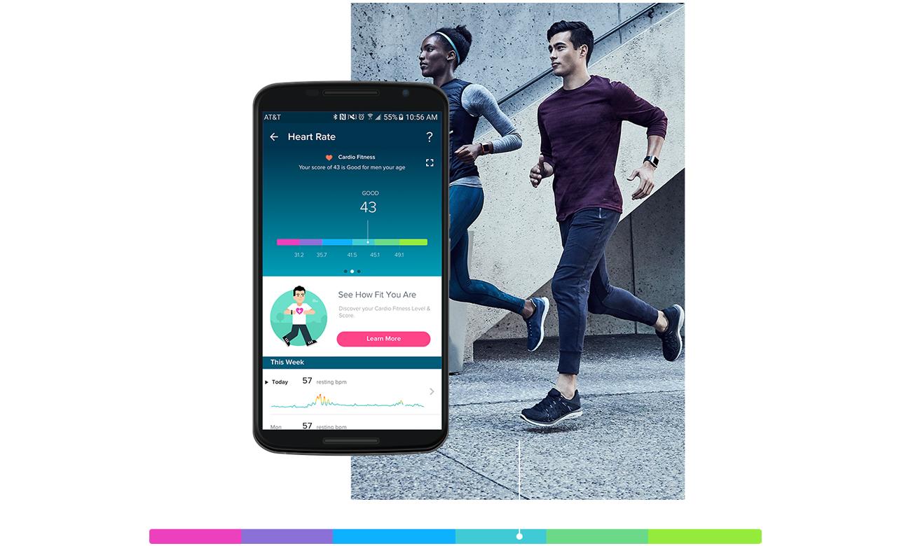 Fitbit Ionic HR Długoterminowe informacje na temat swojego zdrowia