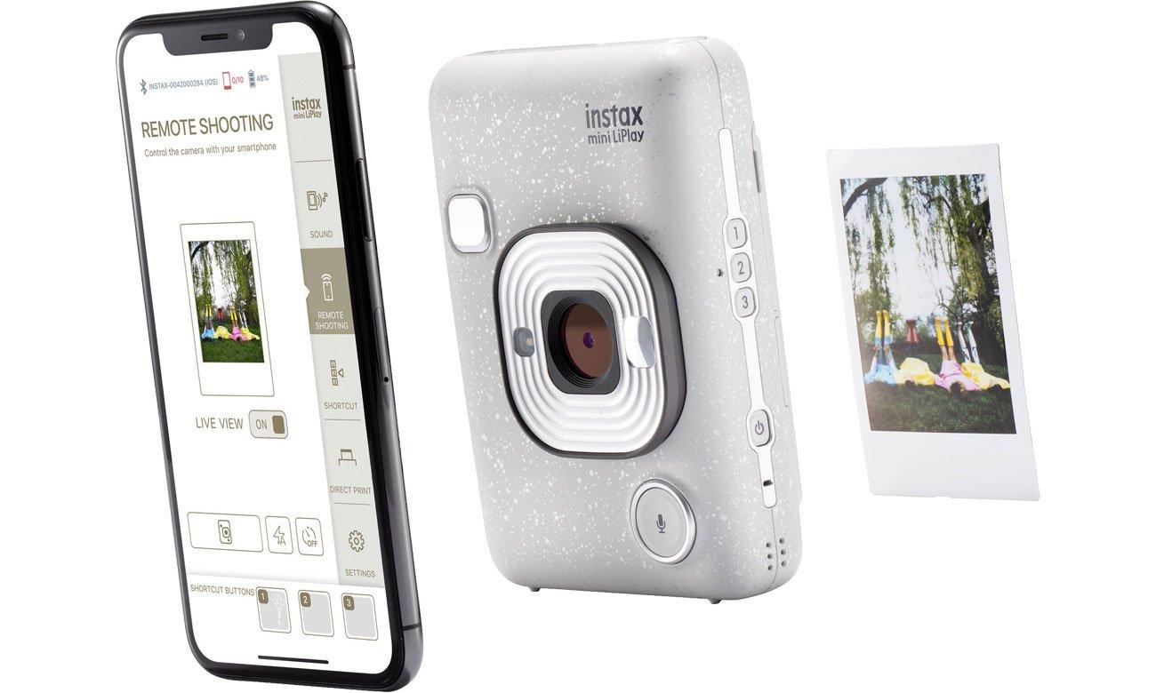 Fujifilm INSTAX Mini LiPlay biały - Aplikacja mobilna