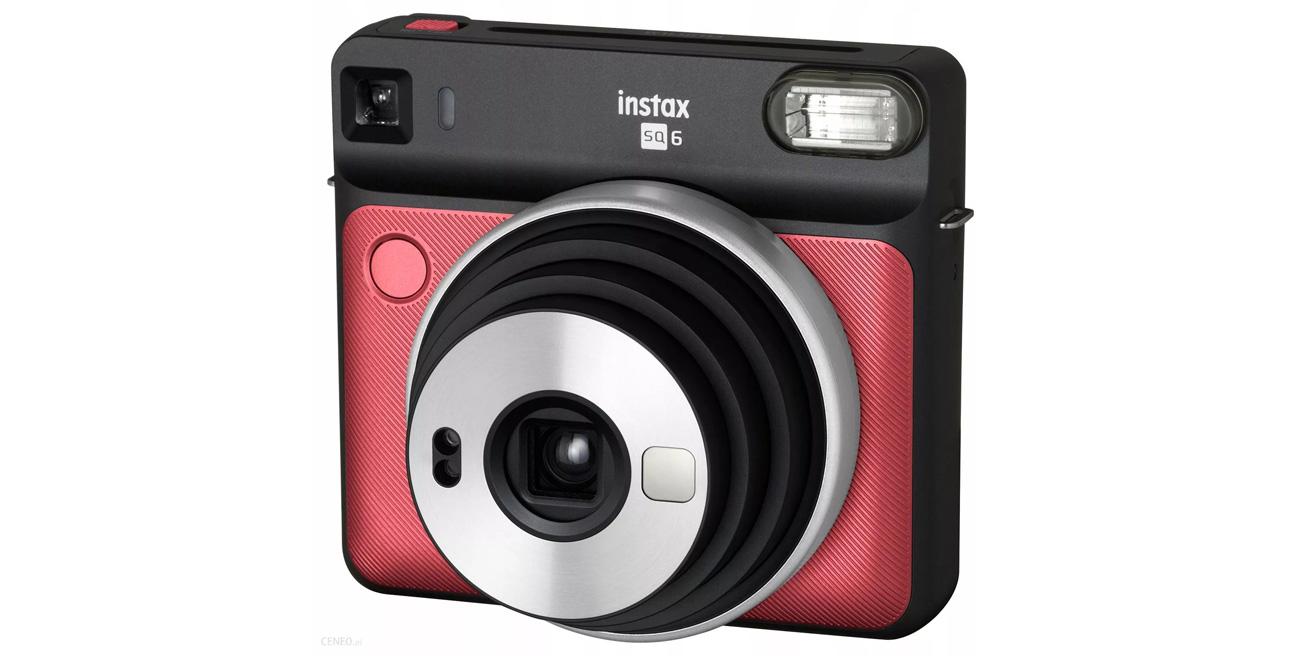 Natychmiastowy aparat Fujifilm Instax SQ 6 czerwony